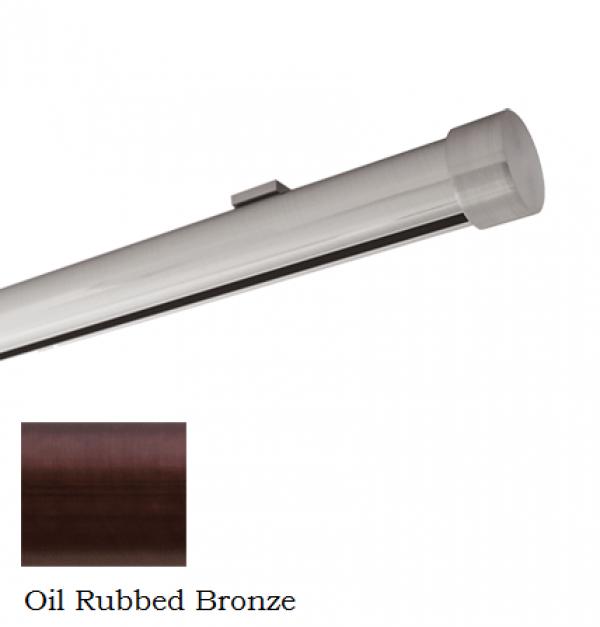 "6' Aria Metal H-Rail Low Profile Ceiling Mount Traverse Kit~1 1/8"" Curtain Track"