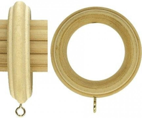 """Fluted Wood Curtain Ring for 2"""" Drapery Rod~Each"""
