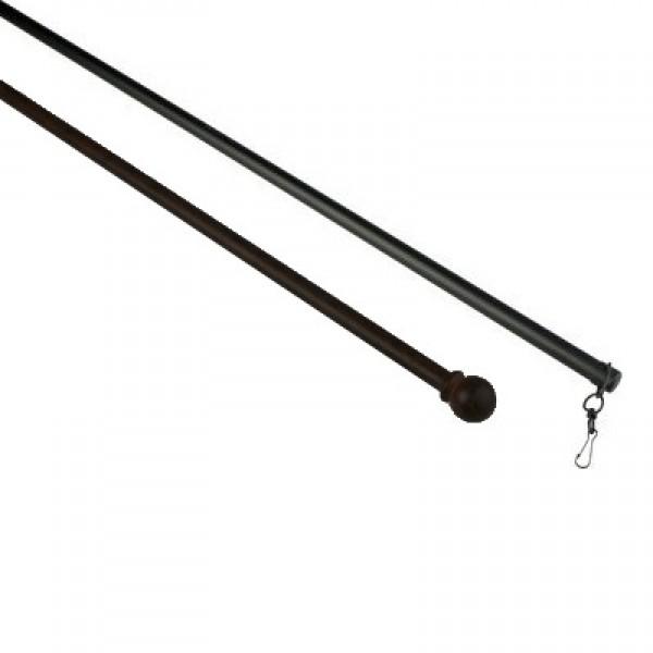 """60"""" Wrought Iron Baton Wand"""