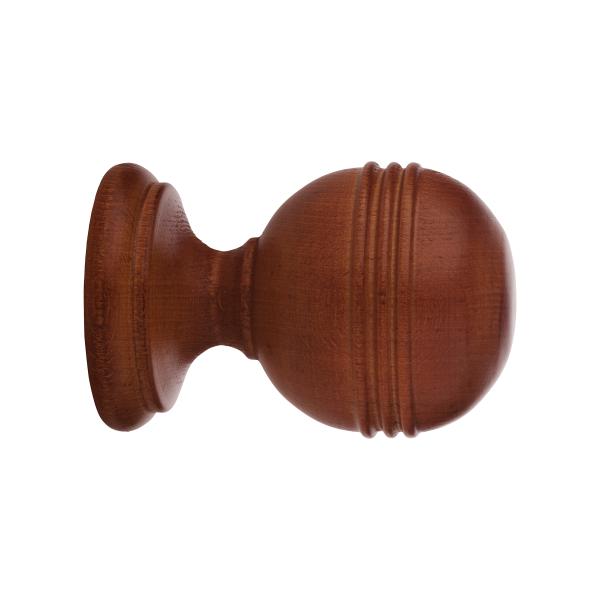 "Ringed Ball Finial for 2"" Rod Diameter"