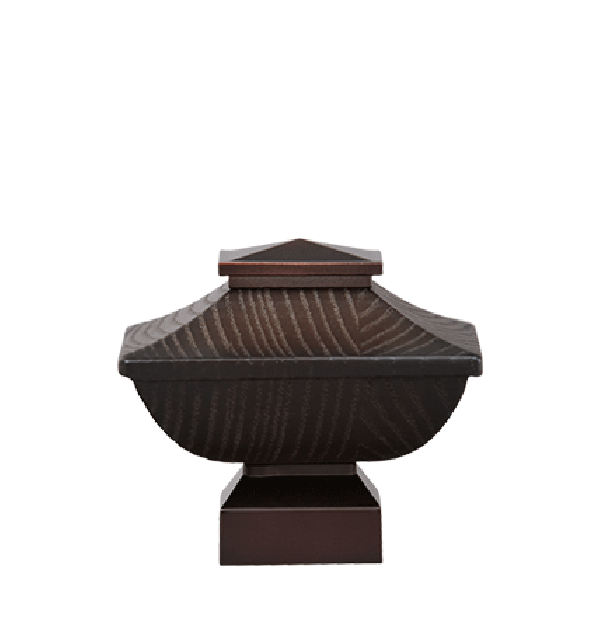 """Espresso/Oil Rubbed Bronze Craftsman Wood Finial for 1 1/8"""" Curtain Rod"""