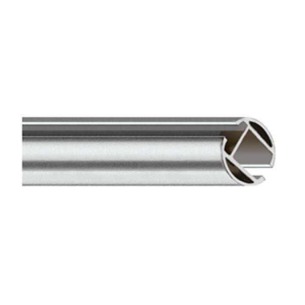 "Steel 8' Hand Drawn Traverse Track~1 1/2"" Diameter"
