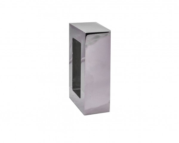 """Polished Nickel Rectangle End Cap for 2"""" x 1"""" Rod"""
