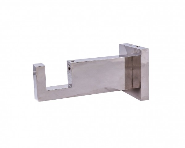 """Brushed Nickel Rectangle Bracket for 2"""" x 1"""" Curtain Rods"""
