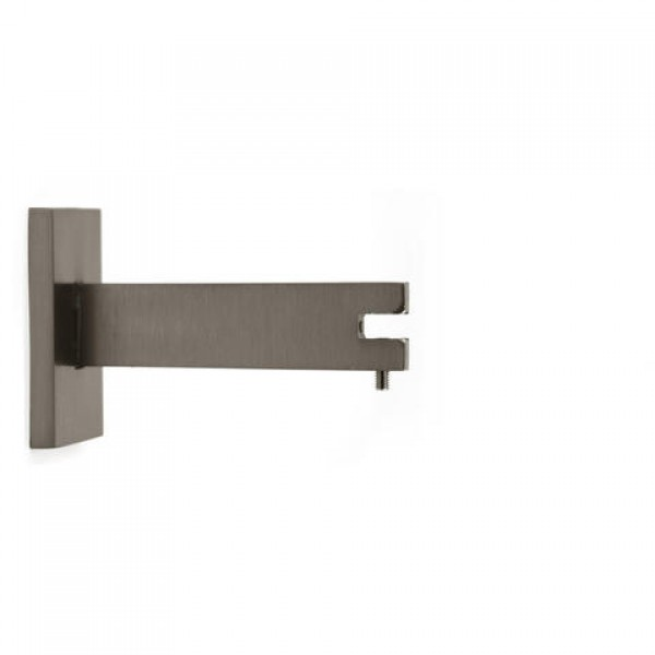 4 single steel curtain rod bracket for rectangular steel. Black Bedroom Furniture Sets. Home Design Ideas