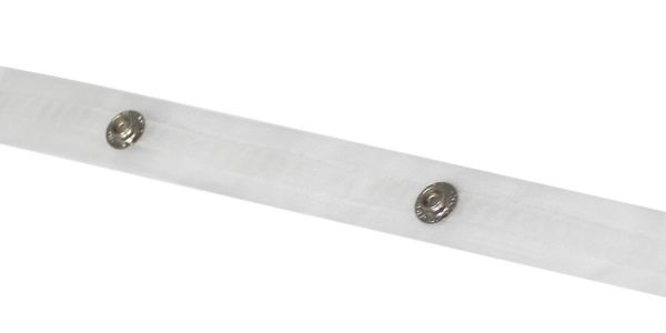 Ripplefold Snap Tape for Traverse Pole & CS Track~Clear~(by the yard)