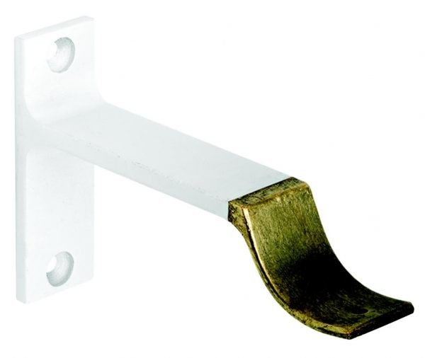 """4 1/2"""" Water Gilded Metal Bracket for 2"""" Curtain Rods~Each"""