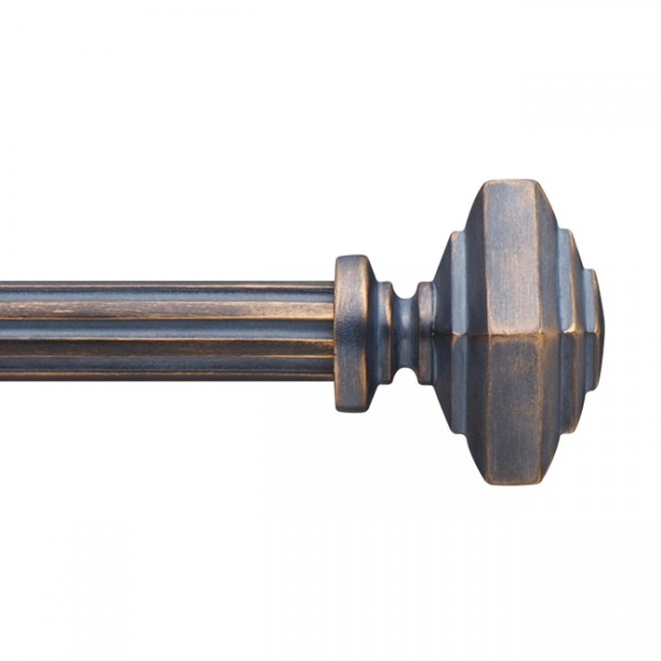 "F138-4S Drapery Curtain Rod Finial for 1 3/8"" Rod Diameter~Each"