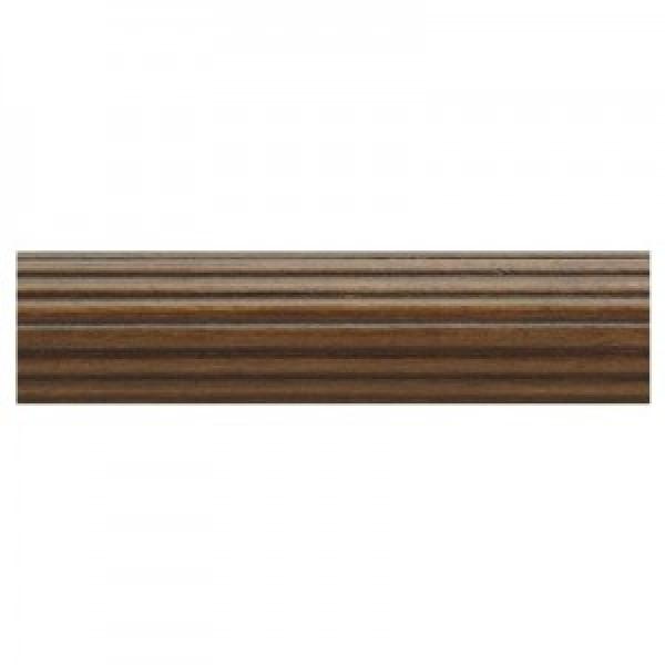 "6' Fluted Wood Drapery Curtain Rod~1 3/8"" Diameter"