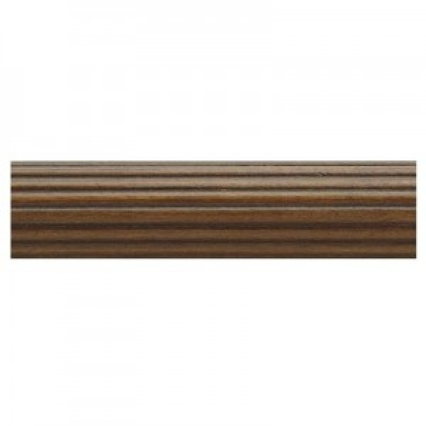"""12' Fluted Wood Drapery Curtain Rods~1 3/8"""" Diameter"""