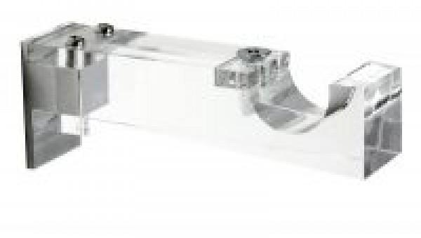 """3 3/4"""" Single Clear Acrylic Bracket for 1 1/8"""" Curtain Rod~Each"""