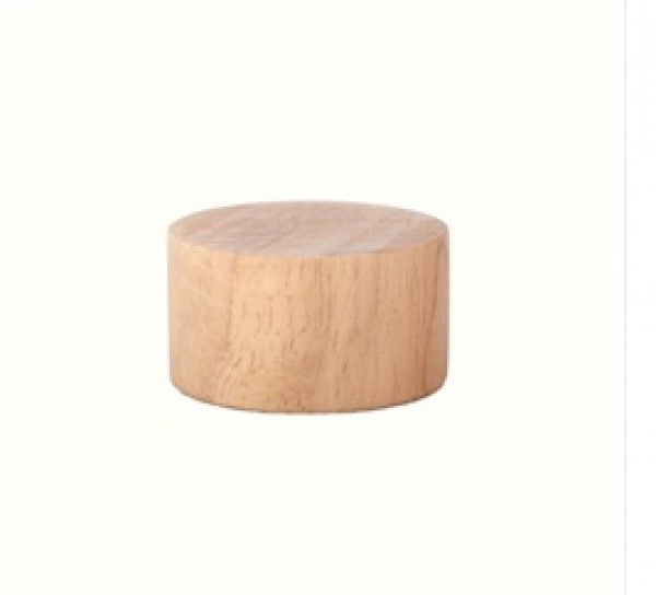 """Wood Disk End Cap for 1 1/8"""" Rod"""