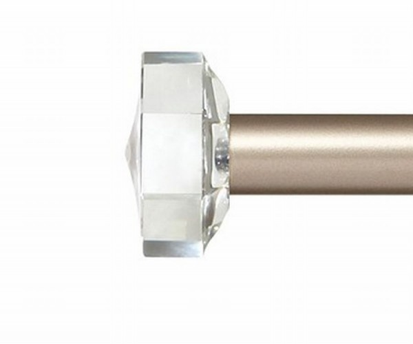"Knox Crystal Curtain Rod Finial for 1"" Metal Curtain Rod ~ Pair"