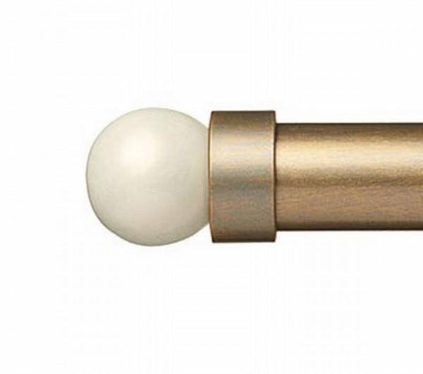 """Cream Pearl Finial for 1 1/4"""" Curtain Rod~Pair"""