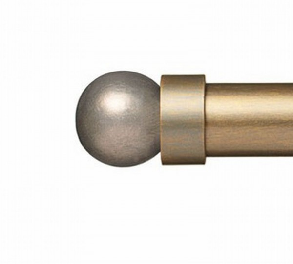 """Grey Pearl Finial for 1 1/4"""" Curtain Rod~Pair"""