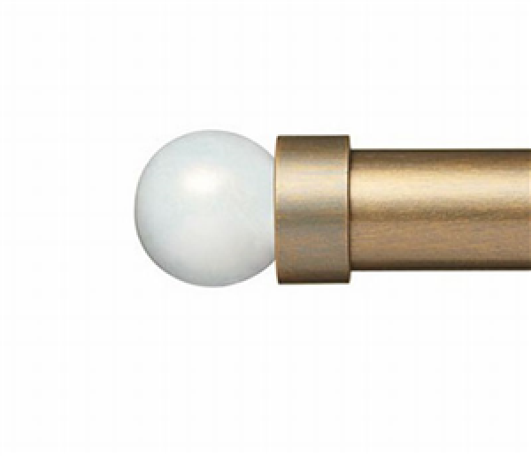 "White Pearl Finial for 1 1/4"" Curtain Rod"