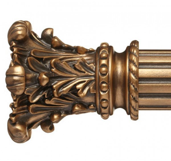 """Lyon Curtain Rod Finial for 2 1/4"""" Wood Drapery Rods~Pair"""
