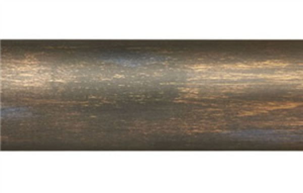 "12' Smooth Wood Curtain Rod Pole~1 3/8"" Rod Diameter"