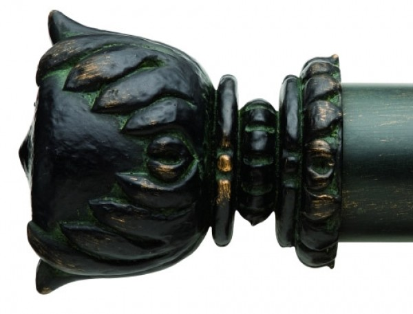 """Andre Finial for 2"""" Curtain Rod~Pair"""