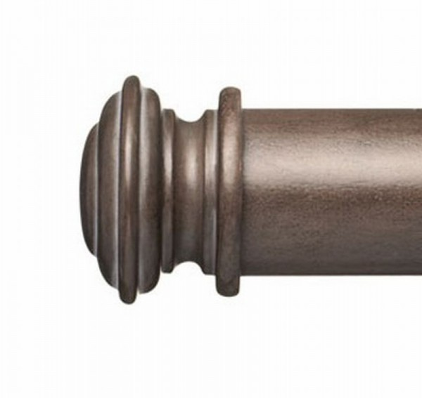 "Cosette End Cap for 2"" Curtain Rod~Pair"
