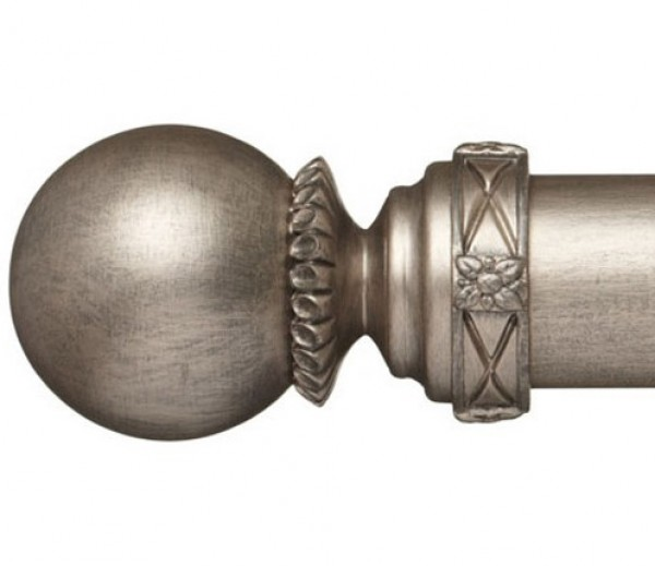 """Ema Curtain Rod Finial for 2 1/4"""" Wood Drapery Rods~Pair"""