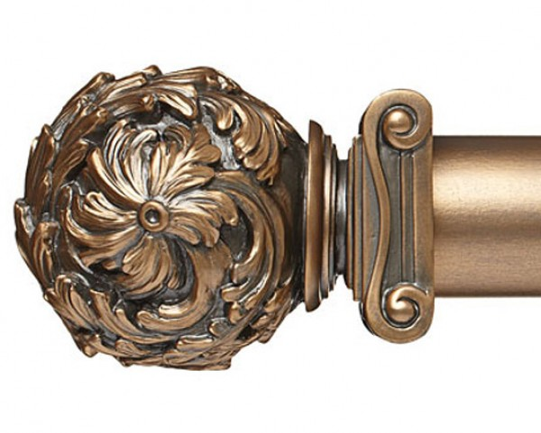 """Greek Curtain Rod Finial for 2 1/4"""" Wood Drapery Rods~Pair"""