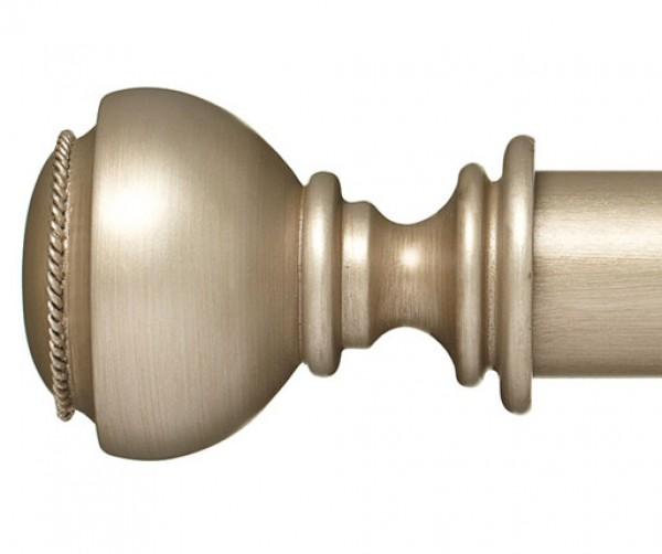 "Landon Curtain Rod Finial for 2 1/4"" Wood Drapery Rods~Pair"