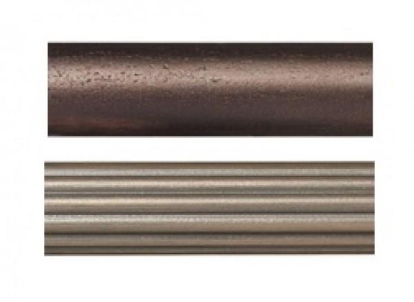 "4' Wood Curtain Rod ~1 3/8"" Rod Diameter"