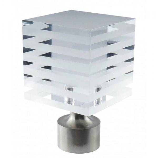 "Striped Block Finial for 1 1/8"" Rod Diameter ~ Each"