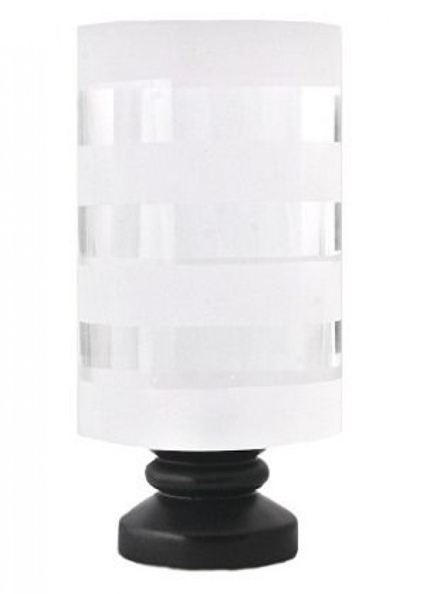 """Striped Cylinder Finial for 1"""" Diameter Rod"""