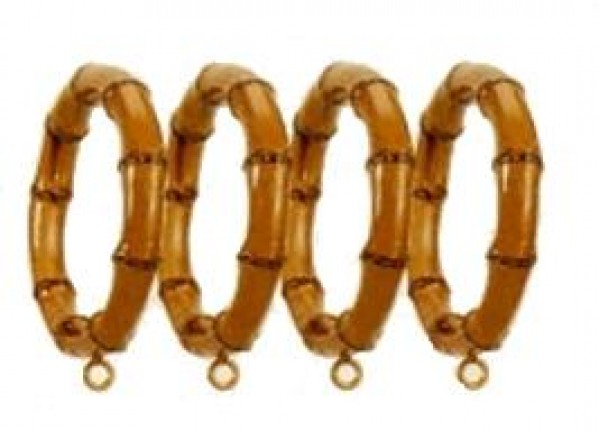 Bamboo Design Curtain Rings For 2 Quot Curtain Rod Set Of 4
